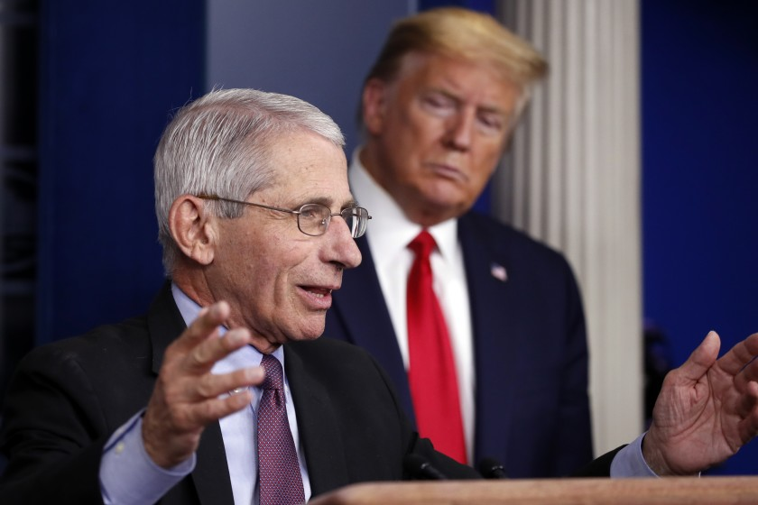 Photo Source: https://www.latimes.com/world-nation/story/2020-07-13/white-house-turns-on-fauci-as-trump-minimizes-virus-spike