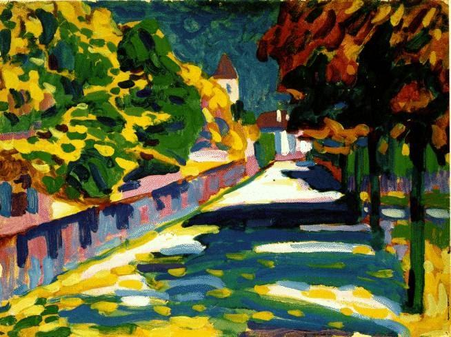 """""""Autumn in Bavaria,"""" Wassily Kandinsky, 1908"""