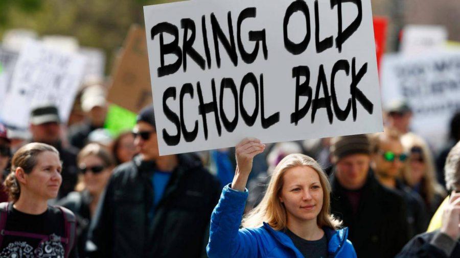 Bryan Lara- Bring Old School Back sign